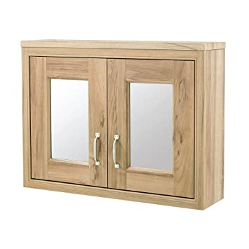 Old London Natural Walnut 800mm Mirror Cabinet by John Louis Bathrooms
