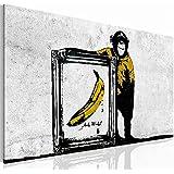 "Bilder & Kunstdrucke Prestigeart, 3022140a Bild auf Leinwand, ""Banane"" by Bansky. Reproduktion, 100 x 57.5 cm"