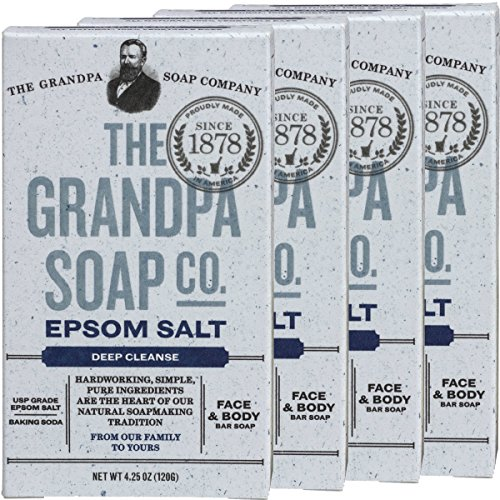 Grandpa's Epsom Salt & Baking Soda Soap 3.25 Ounces (Pack of 4) (Baking Soda Bar compare prices)
