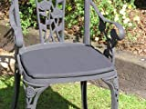 Pack of 6 Cushions for Rose Aluminium Chair in Black