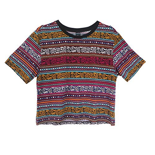 Aurora Women's Tops Vintage Totem T shirt Tribal Short Sleeve Crop casual Size M DT72 (Vintage Women Tops compare prices)