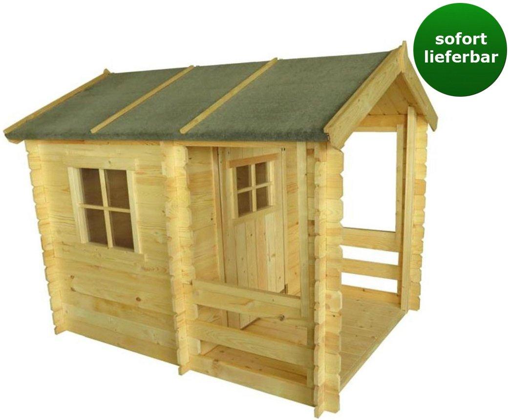Kinderspielhaus – 1,75 x 1,30 Meter aus 19mm Blockbohlen – Kinder Gartenhaus Kinderspielhaus Kinderhaus Spielhaus Holz inkl. Dachpappe und Fußboden kaufen