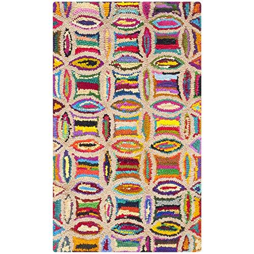 Safavieh Nantucket Collection NAN441A Handmade Multicolored Cotton Area Rug, 2 feet by 3 feet (2' x 3')