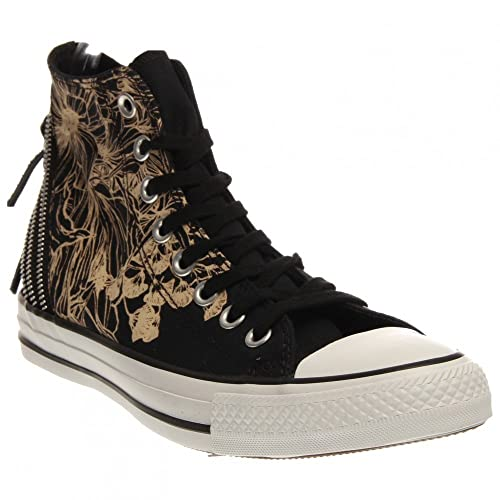 Converse Womens Chuck Taylor Tri Zip Hi Textile Trainers