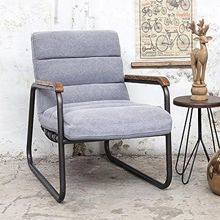 Vintage Sessel MASH Polstersessel Wohnzimmersessel Relaxsessel Loungesessel (grau)