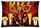 "New KISS Group American Hard Rock Band Pillowcase Sheet cover 18""x 26"""