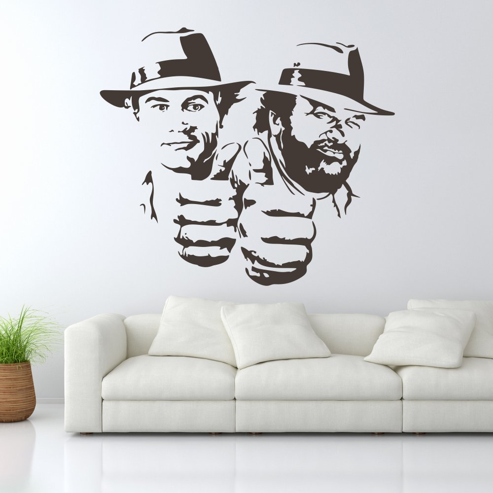 wandtattoo bud spencer und terence hill vier f uste. Black Bedroom Furniture Sets. Home Design Ideas
