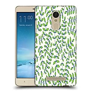 Snoogg Green Small Leaves Printed Protective Phone Back Case Cover For Xiaomi Redmi Note 3