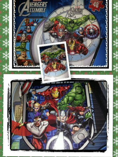 Avengers Shaped Puzzle-48 Pieces Intermediate Puzzle-Assorted Variety