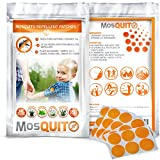 Mosquito Repellent Patch 3cm Resealable 60-COUNT Pack All-Natural Non-Toxic DEET-Free 24-Hour Protection Lavender Eucalyptus Citronella Peppermint 100% Pure Essential Oils Safe On Skin Camping Sports Work