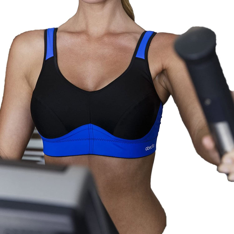 ABECITA – Melanie – Sport-BH – Schwarz-Blau jetzt bestellen