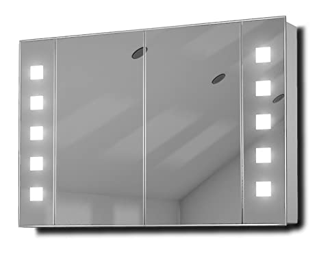Vogue LED Illuminated Bathroom Mirror Cabinet With Sensor & Shaver k70