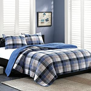 Ink+Ivy Maddox 2-Piece Quilt Set, Full/Queen, Blue