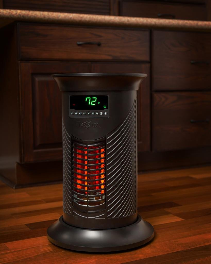 Lifesmart Lifelux Large Room Infrared Tower Space Heater Model LS19-IQH-M