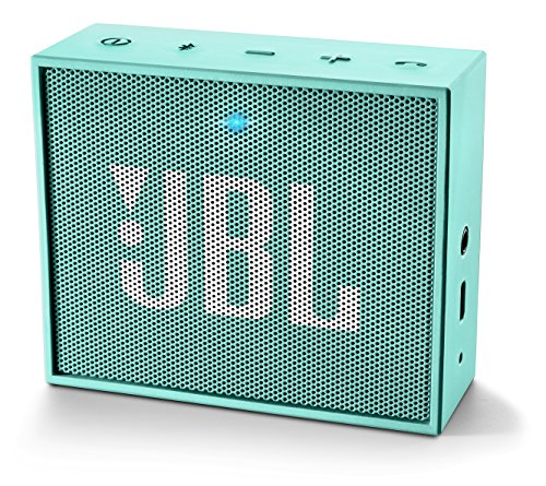 JBL GO Ultra Speaker Bluetooth, Ricaricabile, Portatile con Ingresso Aux-In, Microfono per Chiamate in Vivavoce, Compatibile con Smartphone, Tablet e Dispositivi MP3, Verde Acqua