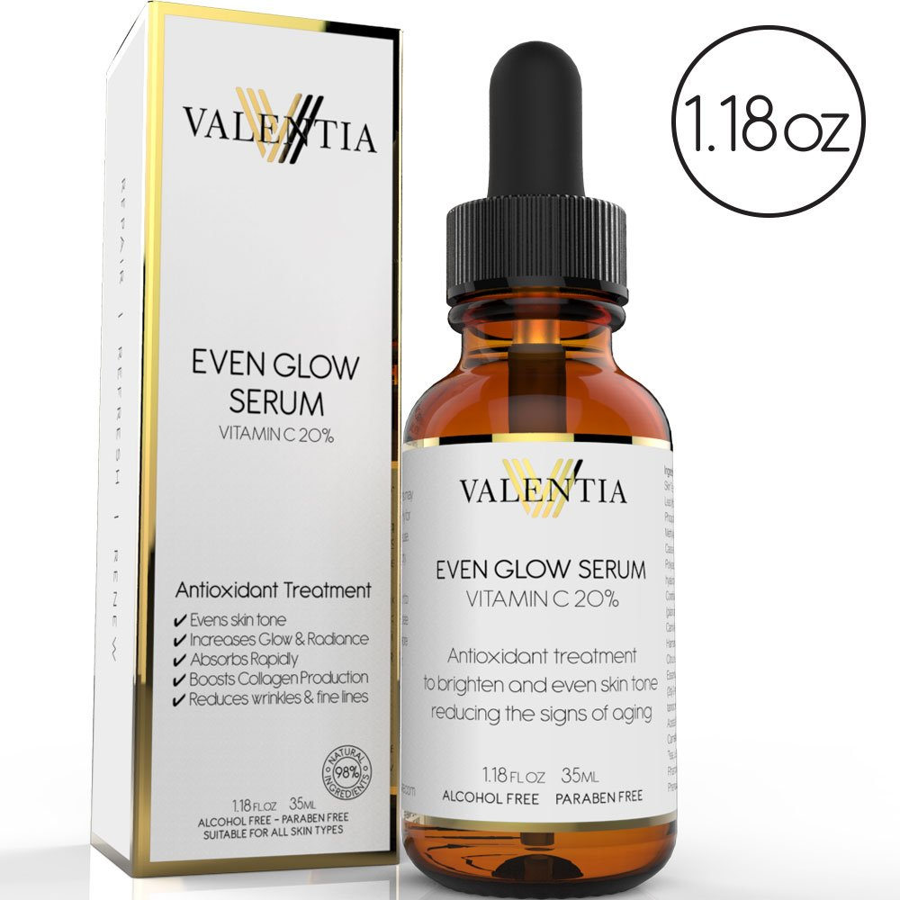 Valentia Even Glow Serum with 20% Vitamin C Review