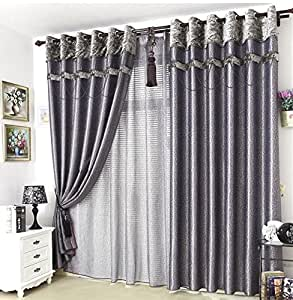 Custom Made Silver Grey Black Drapes Curtains Blackout Eyelet Pleated Sheer Voile