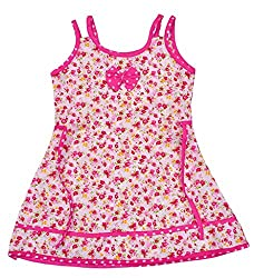 Kilkari COTTON SLEEVELESS FROCK WITH BOWPINK3-4 YRS