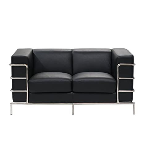 Diamond Sofa - Citadel Loveseat in Black
