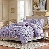 Madison Park 4-Piece Harlow Comforter Set, King, Purple