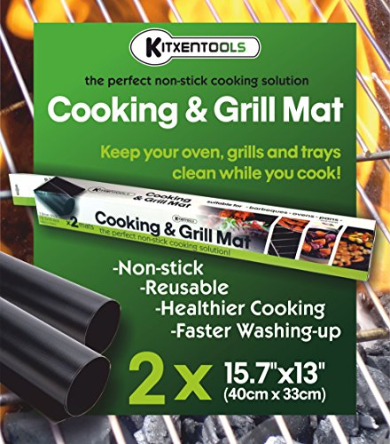 kitxentools-bbq-grill-mat-set-of-2-easy-to-clean-non-stick-grilling-mats-1575-x-13-inch-reusable-mat