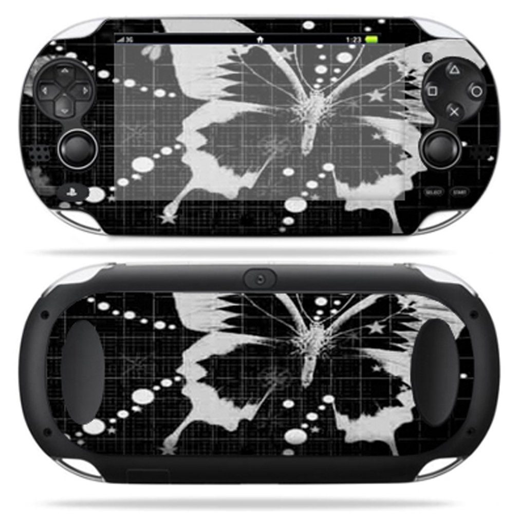 Protective Vinyl Skin Decal Cover for PS Vita PSVITA Playstation Vita Portable Sticker Skins Black Butterfly protective silicone cover case for ps vita 2000 black