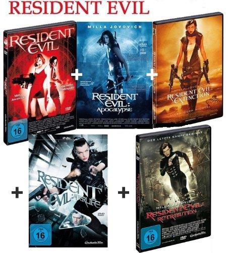 Resident Evil 1-5 dvd Bundle, Set, Milla Jovovich, Ali Larter, Wentworth Miller, Sienna Guillory, Michelle Rodriguez,1,2,3,4,5
