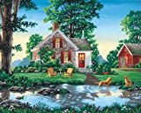 Dimensions 91433 Malen nach Zahlen Summer Cottage Sommerhaus