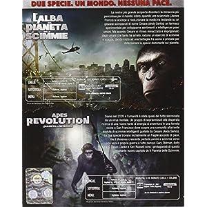 apes revolution - il pianeta delle scimmie / l'alba del pianeta delle scimmie (2 blu-ray) box set