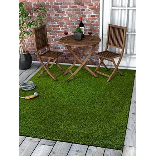 Super Lawn Artificial Grass Rug Indoor / Outdoor Carpet Synthetic Turf Fade Resistant Easy Care 53