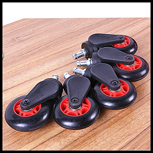 """Set Of 5 Swivel Wheel Dxracer Sp0705 Office Chair Racing Seat Casters Wheels 2"""" front-996973"""