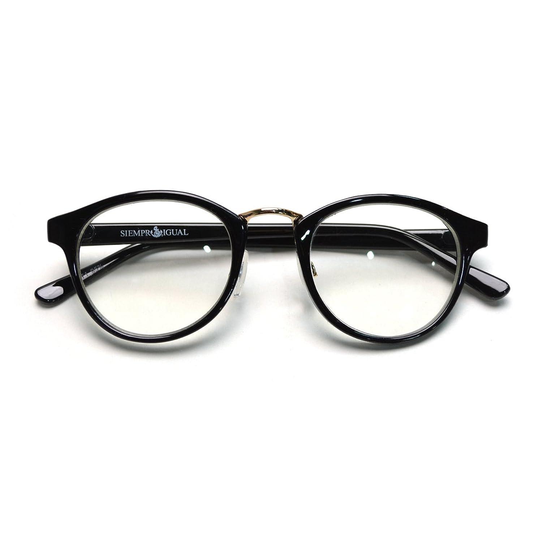 (トライバル)TRIBAL 細めのシンプルフレーム ボストンタイプ眼鏡 ブラック : 服&ファッション小物通販 | Amazon.co.jp