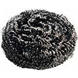New Star Foodservice 54460 Extra Large Stainless Steel Sponges Scrubbers 50g, Set of 12