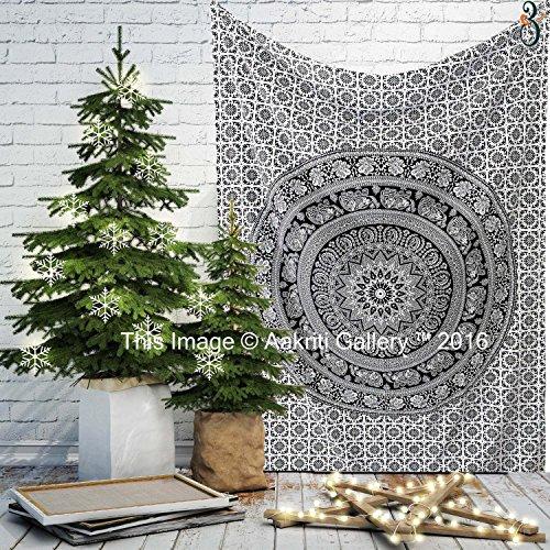 tapestry-single-black-and-white-flower-wall-hanging-art-decor-mandala-tapestry-hippie-dorm-84x55-inc