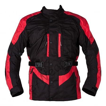 Noire et rouge blindée étanche Moto Veste