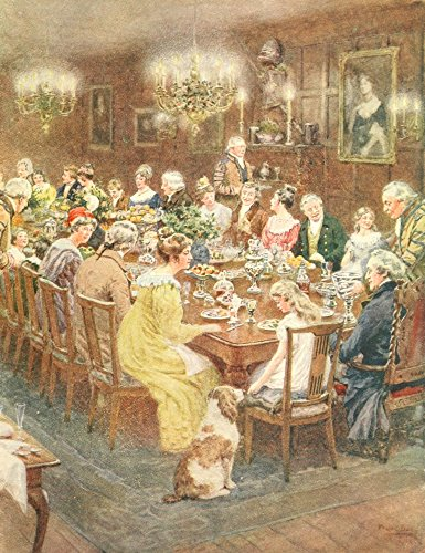 Old Christmas 1916 Christmas Dinner Poster Print by Frank Dadd (18 x 24)