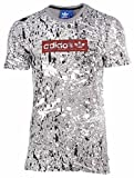 Adidas Men's Ae3648 Splatter Trefoil T-shirt, Core Heather
