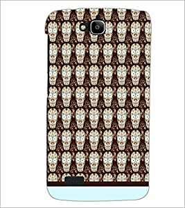 PrintDhaba Skull pattern D-1945 Back Case Cover for HUAWEI HONOR HOLLY (Multi-Coloured)