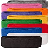 Suddora Headbands (Also in Neon Colors) - Athletic Cotton Terry Cloth Head Sweatband for Sports