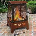 Landmann 25326 Haywood Tree Leaves Sturdy Steel Fire Pit