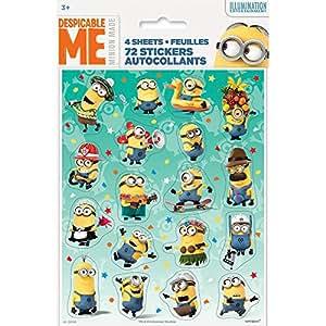 Unique Despicable Me Sticker Sheets