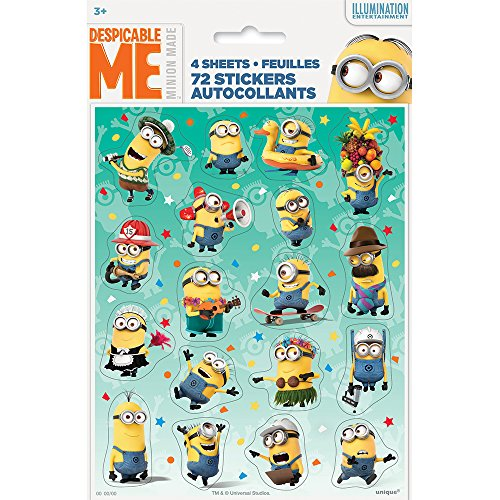Purchase Unique Despicable Me Sticker Sheets (4 Count)