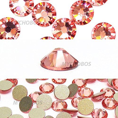 ROSE PEACH (262) pink Swarovski NEW 2088 XIRIUS Rose 34ss 7mm flatback No-Hotfix rhinestones ss34 18 pcs (1/8 gross) *FREE Shipping from Mychobos (Crystal-Wholesale)*
