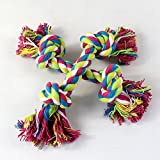 Alcoa Prime Lovely Pets Puppy Dog Chew Toy 25cm Cotton Braided Knot Bone Rope Pet Toys Shipping