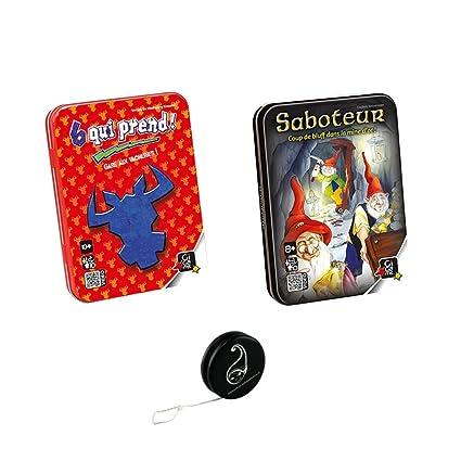 Pack 2 Jeux GIGAMIC: 6 QUI PREND + SABOTEUR + 1 yoyo BLUMIE