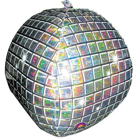 Anagram Disco Ball Foil Balloon
