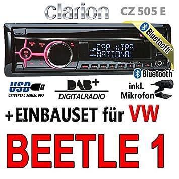 Volkswagen beetle 1-clarion cZ505E-bluetooth/dAB autoradio avec écran digital