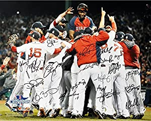 """Boston Red Sox 2013 World Series Champions Team Autographed 16"""" x 20"""" Photograph with 20 Signatures - Fanatics Authentic Certified"""