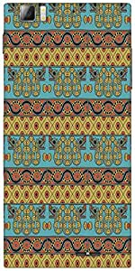Snoogg Aztec Pattern Mustard Designer Protective Back Case Cover For Lenovo A6000