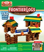 Ideal 160 Piece Frontier Logs Classic Wood Building Set